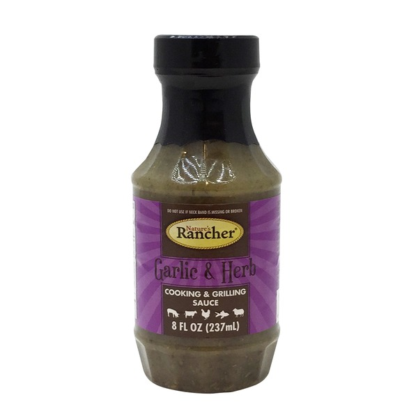 Nature's Rancher Garlic And Herb Cooking And Grilling Sauce