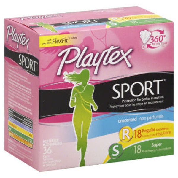 Fem Care Tampons Unscented Regular/Super Multi-Pack Sport