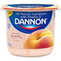 Dannon Peach Whole Milk Yogurt