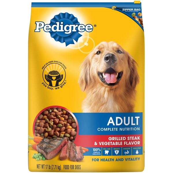 Pedigree Adult Complete Nutrition Grilled Steak & Vegetable Flavor Dog Food
