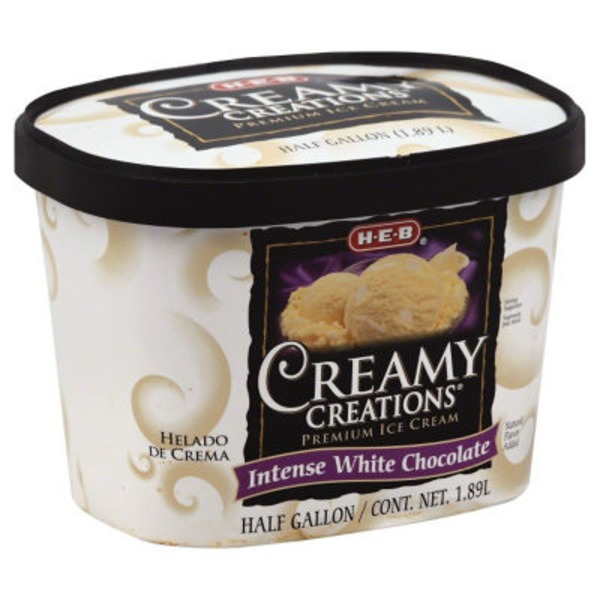 H-E-B Creamy Creations Intense White Chocolate Ice Cream