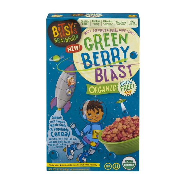 Bitsy's Brainfood Organic Cereal Green Berry Blast