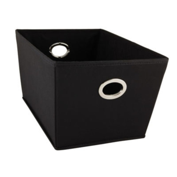 Neu Home Black Medium Grommet Tote Box