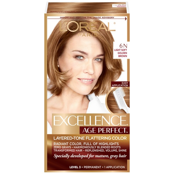 Excellence Age Perfect 6N Light Soft Golden Blonde Layered-Tone Flattering Color