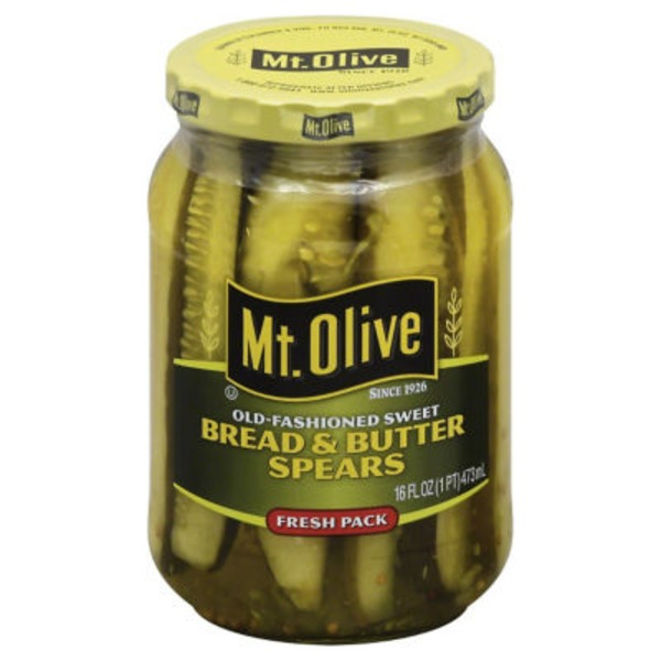 Mt. Olive Bread & Butter Spears Old Fashioned Sweet Pickles