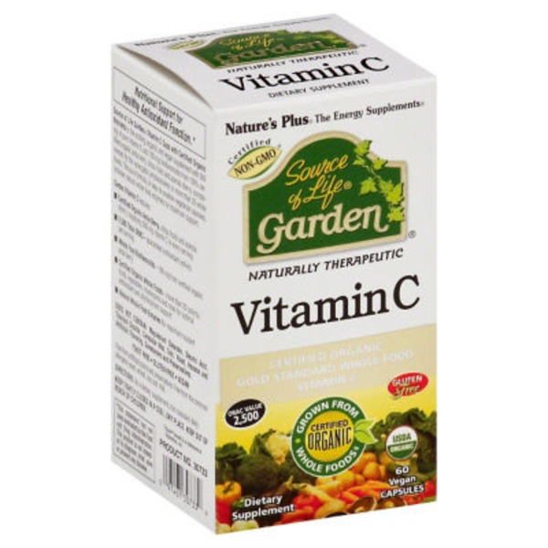 Nature's Plus Vitamin C, Vegan Capsules, Box