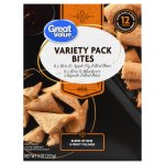 Great Value Variety Pack Bites, Brie and Apple Fig Filled Bites & Brie and Blueberry Chipotle Filled Bites, 9 oz, 12 Count