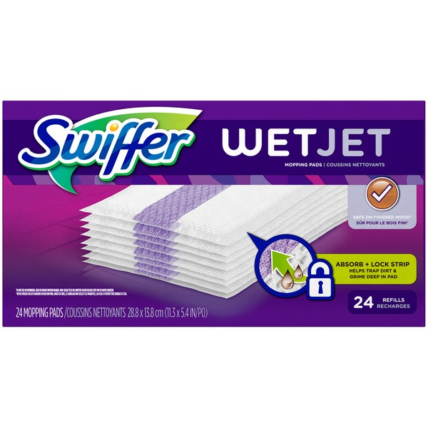 Swiffer WetJet Swiffer WetJet Hardwood Floor Spray Mop Pad Refill Original 24 Count Surface Care