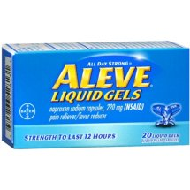 Aleve Liquid Gels Pain Reliever/Fever Reducer, 220 mg
