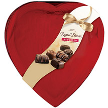 Russell Stover Assorted Fine Chocolates in Red Foil Heart