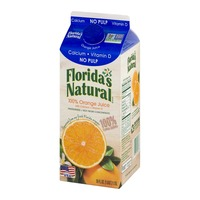 Florida's Natural 100% Orange Juice No Pulp Calcium Vitamin D