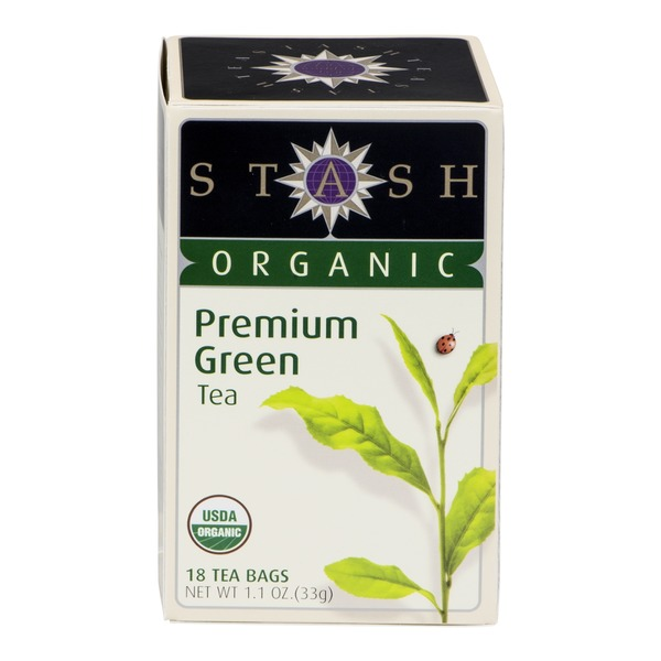 Stash Tea Organic Premium Green Tea - 18 CT