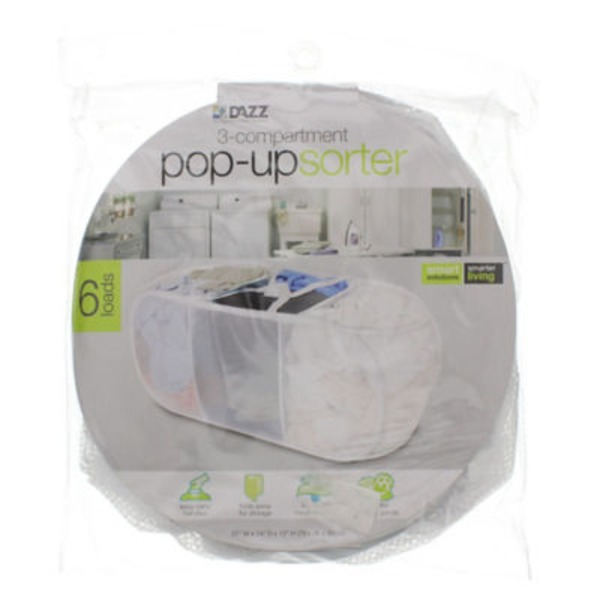 Dazz 3 Compartment Pop Up Sorter
