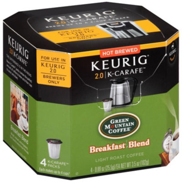 Green Mountain Coffee Breakfast Blend K-Carafe Packs Coffee