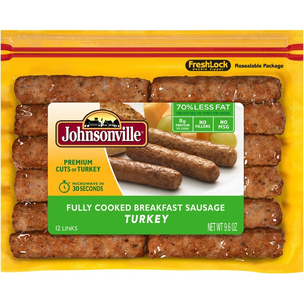 Johnsonville Fully Cooked Breakfast Sausage Turkey