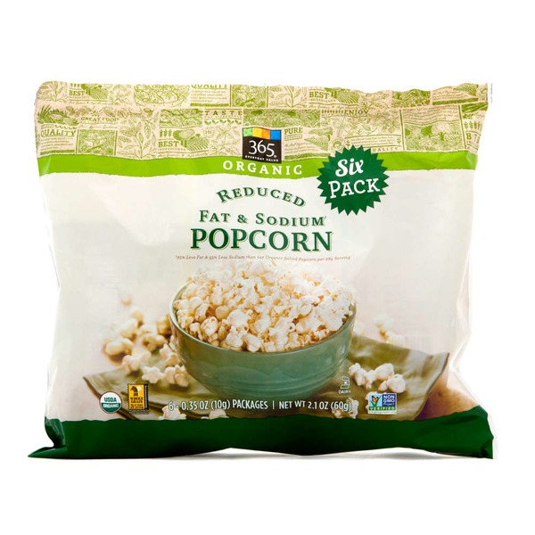 365 Organic Reduced Fat And Sodium Popcorn