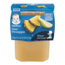Gerber 2nd Foods Pear Pineapple, 4 Ounce Tubs, 2 Count