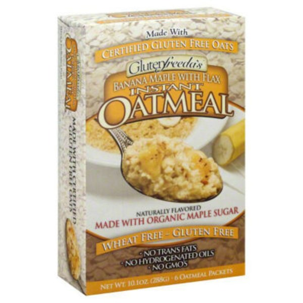 Glutenfreeda Oatmeal, Instant, Banana Maple with Flax