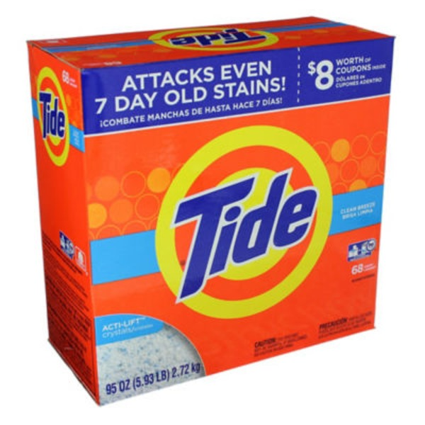 Tide Clean Breeze HE Turbo Powder Laundry Detergent, 68 Loads, 95 Oz Laundry
