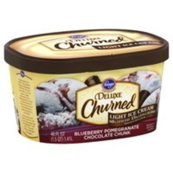 Kroger Deluxe Light Ice Cream Blueberry Pomegranate Chocolate Chunk
