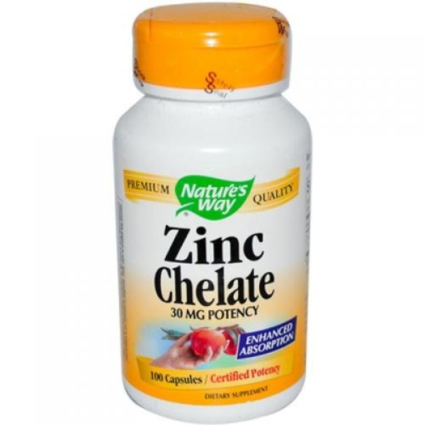 Nature's Way 30 Mg Zinc Chelate Capsules