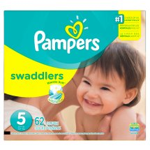 Pampers Swaddlers Diapers, Size 5, 62 Count