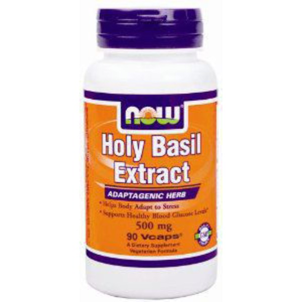 Now Holy Basil 500 Mg Capsules