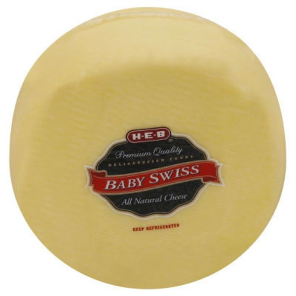 H-E-B Deli Baby Swiss Cheese