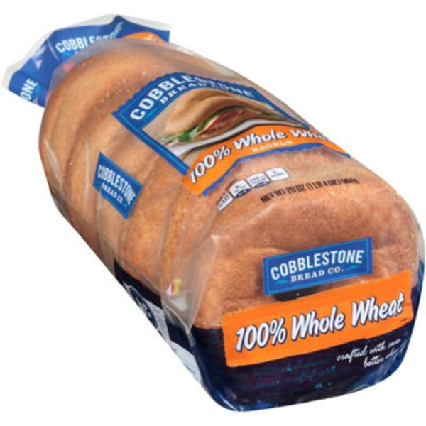 Cobblestone Mill 100% Whole Wheat Bagels