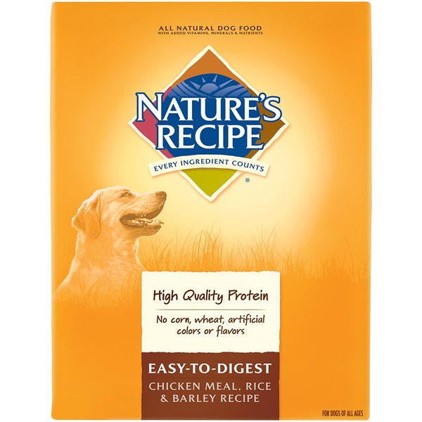 Nature's Recipe Easy to Digest Chicken Meal Rice & Barley Recipe Dog Food