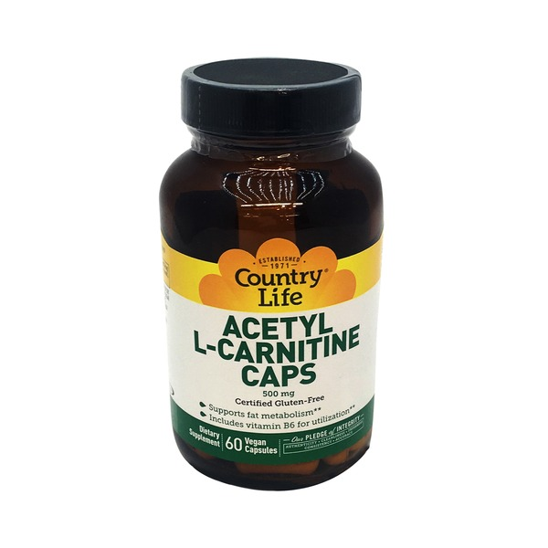 Country Life Acetyl L Carnitine 500 Mg