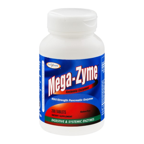 Enzymatic Therapy Enzymatic Mega-Zyne Max Strength Pancreatic Enzymes - 200 CT