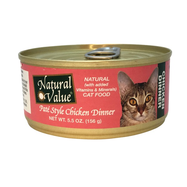 Natural Value Pate Style Chicken Dinner Cat Food