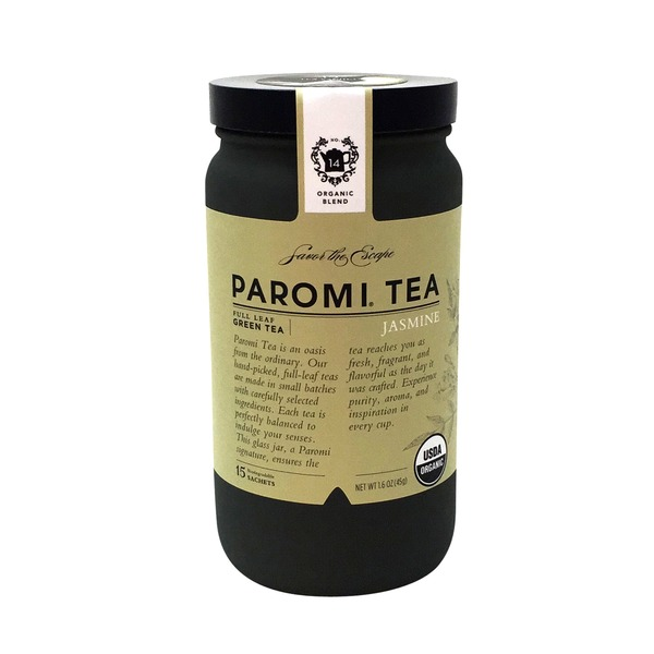 Paromi Tea Organic Full Leaf Jasmine Green Tea