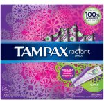 Tampax Radiant Plastic Tampons, Super Absorbency, Unscented, 32 Count