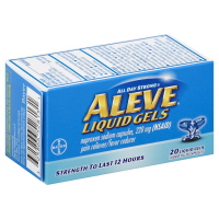 Aleve Naproxen Sodium Liquid Gels