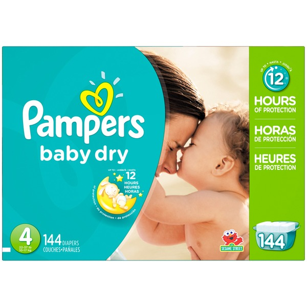 Pampers Baby Dry Pampers Baby Dry Diapers Size 4 144 Count Diapers