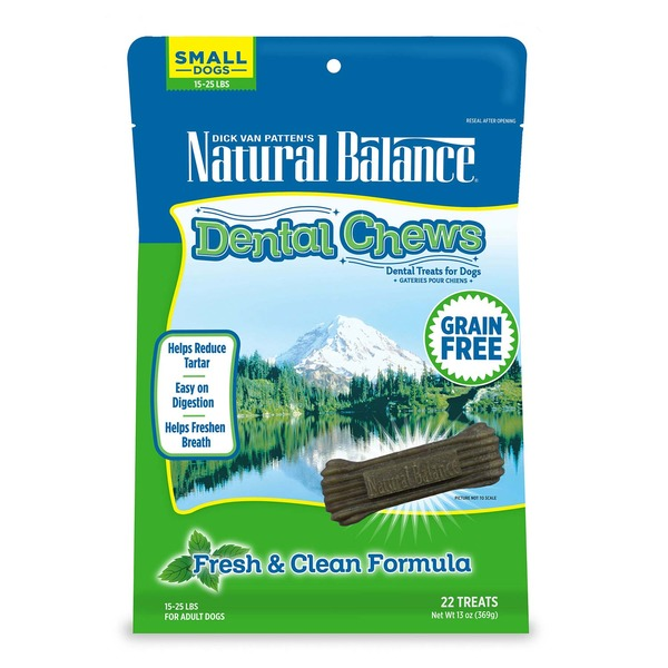 Natural Balance Dental Chews Dental Treats for Dogs Grain Free Fresh & Clean Formula