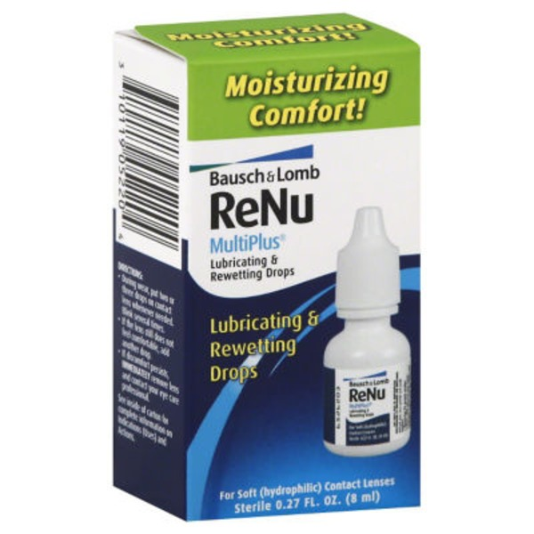 ReNu Bausch + Lomb ReNu MultiPlus Lubricating & Rewetting Drops