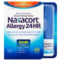 Nasacort 24 Hour Multi-System Nasal Allergy Spray 120 Sprays