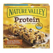 Nature Valley Chewy Granola Bar, Protein, Peanut Butter Dark Chocolate, 5 Bars - 1.4 oz, 1.42 OZ