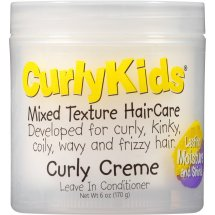 CurlyKids Mixed Texture HairCare Curly Creme Leave in Conditioner, 6 oz