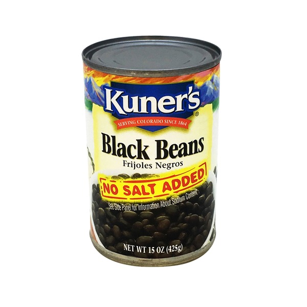 Kuners Black Beans No Salt Added