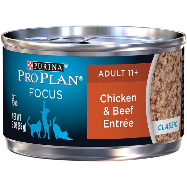 Pro Plan Cat Wet Focus Adult 11+ Chicken & Beef Entree Classic Cat Food