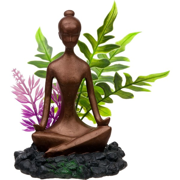 Blue Ribbon Pet Products Zen Girl With Plants Aquarium Ornament