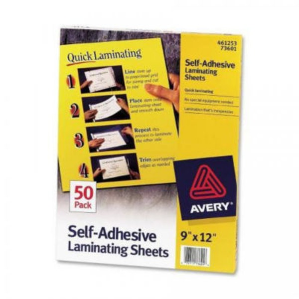 Avery Self-Adhesive Laminating Sheets, 9