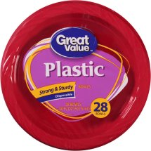 Great Value Plastic Red Bowls, 20 Oz, 28 Count
