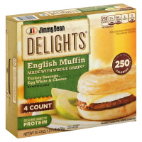Jimmy Dean Delights Muffin Turkey Sausage Egg 4 Count