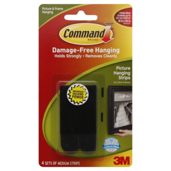 3m Command Damage-Free Medium Picture & Frame Hanging Strips - 4 CT