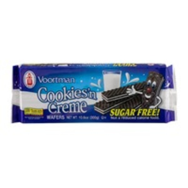 Voortman Cookies'n Creme Wafers Sugar Free